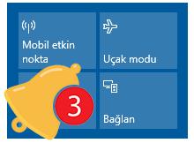 İşlem merkezi ikonlarının yerleri nasıl değiştirilir