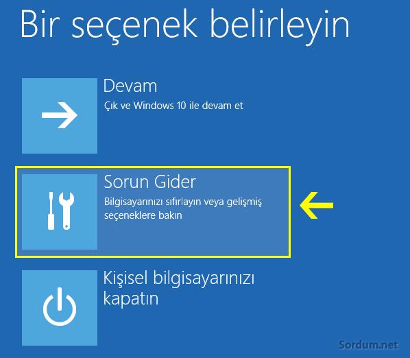 Windows 10 sorun gider