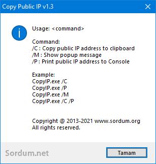 Yerel IP adresinizi kopyalayın