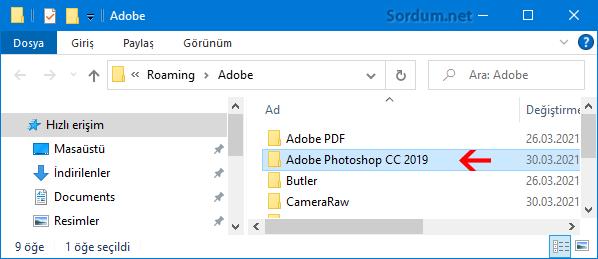 Adobe Photoshop Klasörü