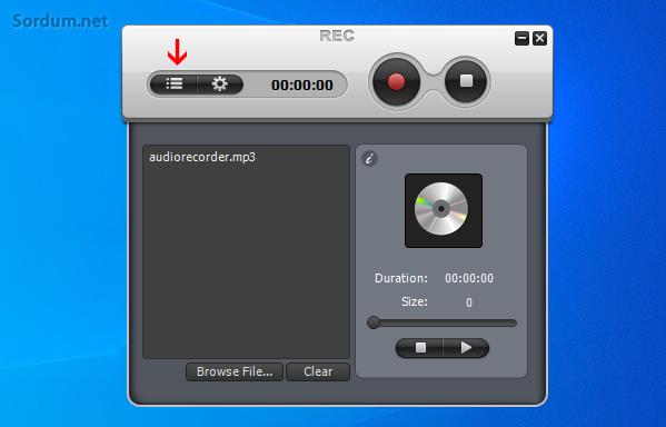 Weenysoft free audio recorder kaydı dinle