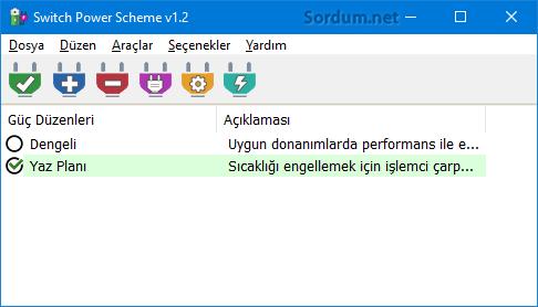 Switch power scheme yazılım arayüzü