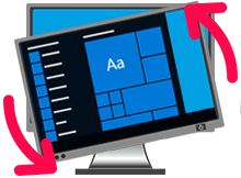 Bilgisayar ekranı yan veya ters döndü çözümü