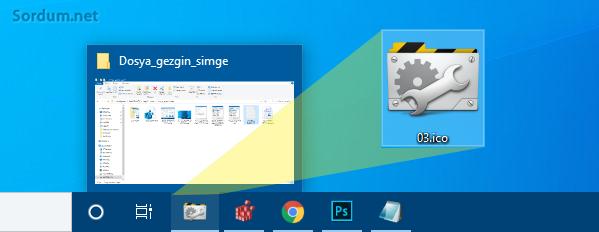 Farklı dosya gezgini ikonu