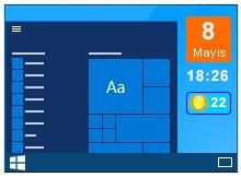 Windows 10 da masaüstü gadgetleri kullanın