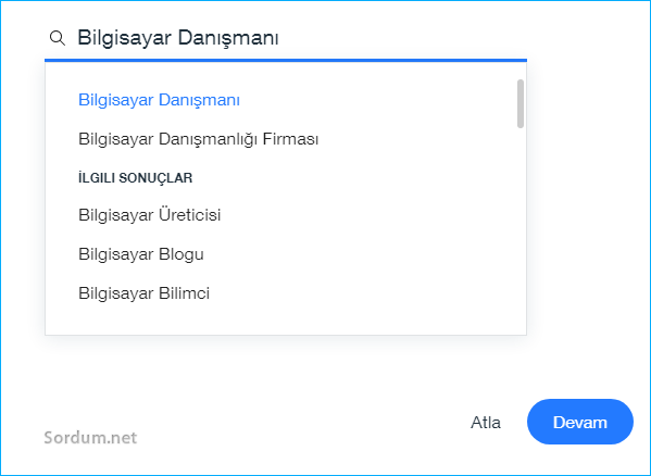 Wix ile ne tür bir site seçimi
