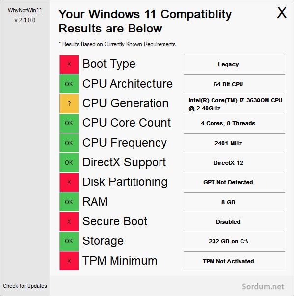 Why Not Win11 yazılım arayüzü
