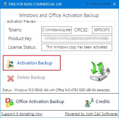 Windows ve Office yedekleme aracı