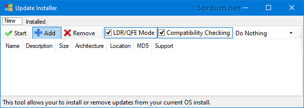 Update Installer Add