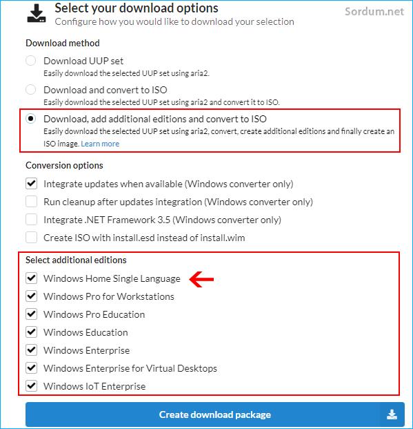 Windows 11 diğer sürümleri indir