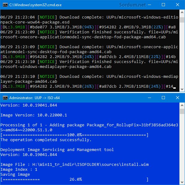 Windows 11 indiriliyor