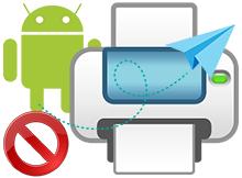 Android te varsayılan yazdırma hizmetini kapat