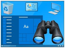 Windows 10 da masaüstü simgelerini etkinleştir