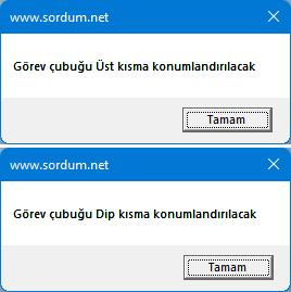 Windows 11 görev çubuğu konumunu değiştir