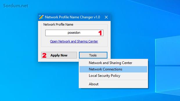 Kablolu ağ bağlantı ismini değiştir