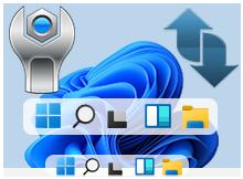 Windows 11'de Görev Çubuğu Simge boyutunu değiştir
