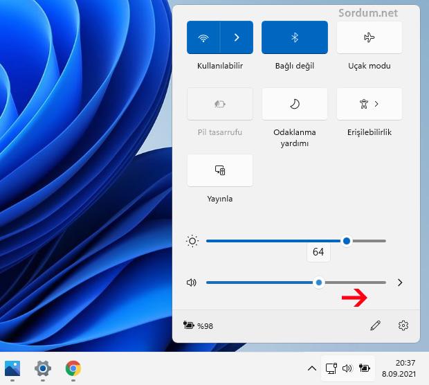 Windowsta sesi arttır
